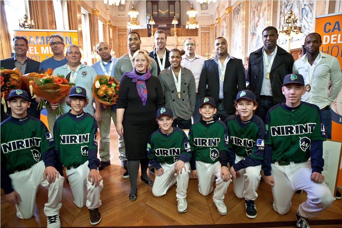 Huldiging WK Internationals Neptunus